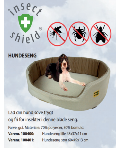 Insect Shield Hundeseng Stor 60x49x13 (Grå)