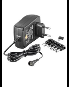 3-12V Universal strømforsyning Max 1,5A (6 stik)