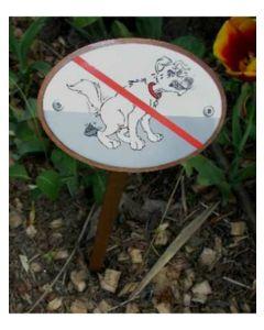 Hundehømhøm forbudt skilt til nedgravning