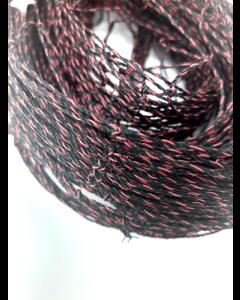 Spurvenet sort/rødtråd NO-FLAME