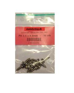 Selvskærende skruer 3.5 x 9.5mm 10 stk.